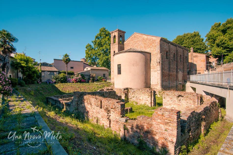 Ravenna e i resti della Chiesa di Santa Croce