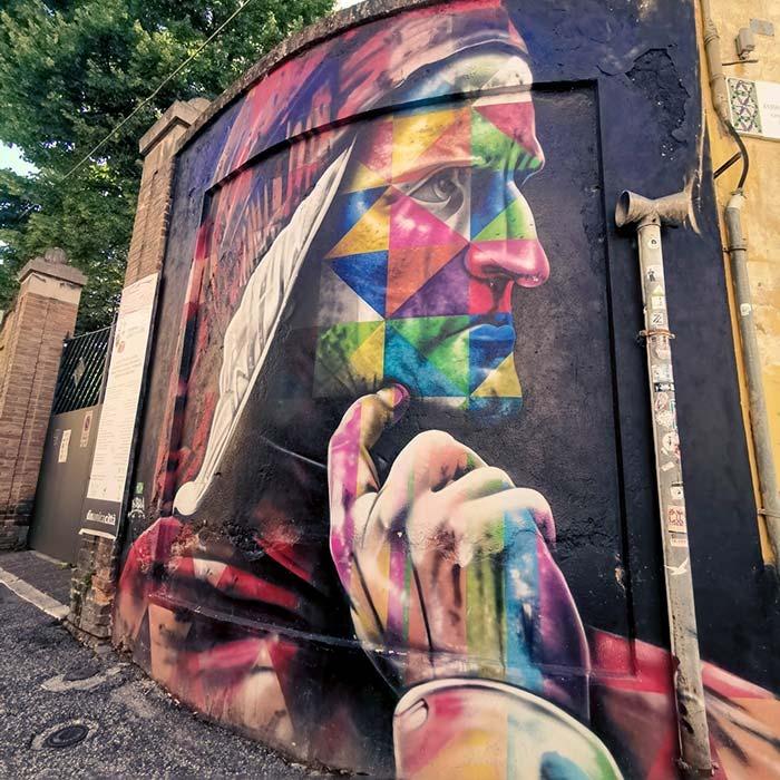 Dante, Street Art, Ravenna