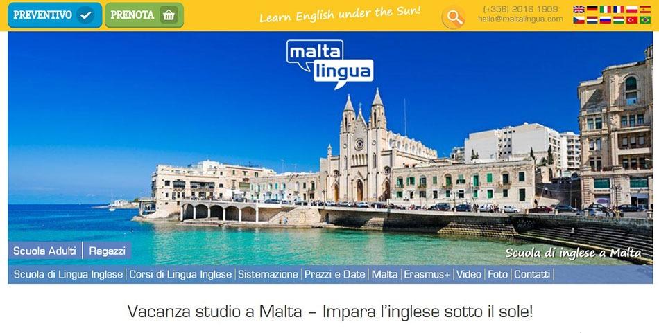 studiare inglese con Malta lingua